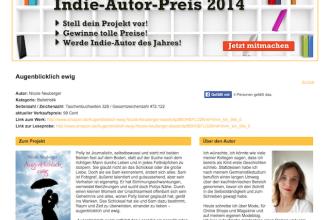 Autorpreis, Wettbewerb, Indie Autor