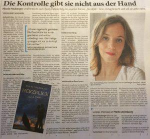 Artikel Aachener Zeitung Nicole Neuberger Herzblick