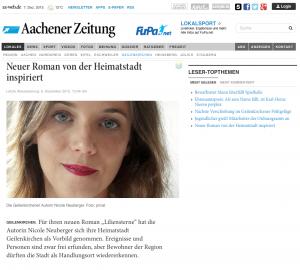 Liliensterne Aachener Zeitung ©Screenshot Aachner Zeitung