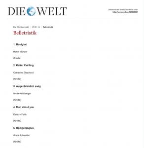 Belletristik: Belletristik - DIE WELT