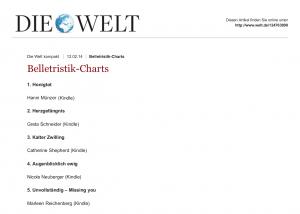 Belletristik-Charts: Belletristik-Charts - DIE WELT