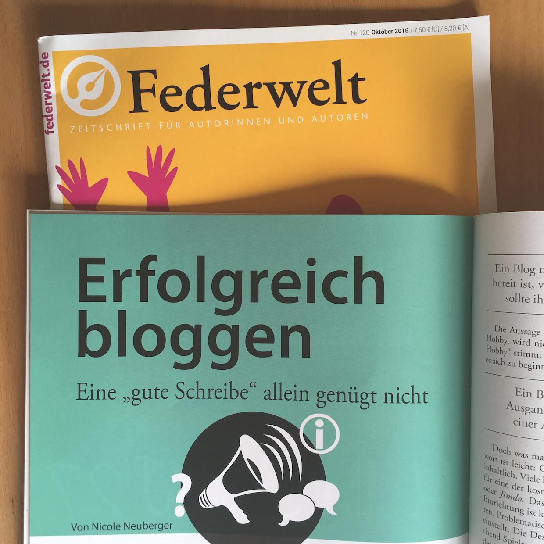 Federwelt 120 Erfolgreich bloggen ©Nicole Neuberger