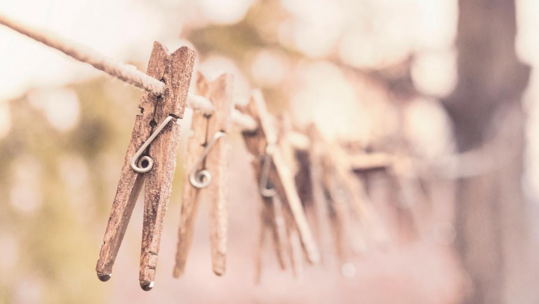 Wäscheklammern, vintage, Holz