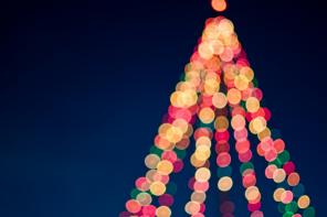 Lichter, Weihnachtsbaum, frohe Festatage