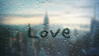 Liebe, Fenster, Glas, Tropfen