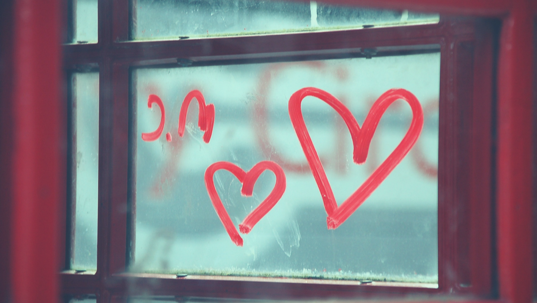 Herzen, Fenster, Liebe, Bezieung