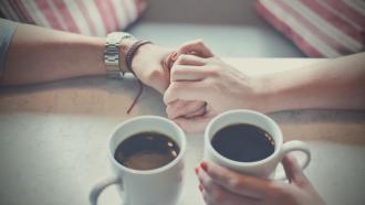 Hände, Valentinstag, Kaffee, Liebe