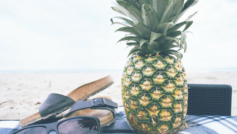 Picknick, Strand, Ananas